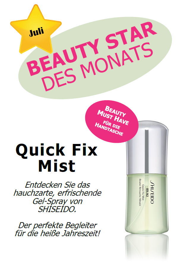 Beauty Star Juli Shiseido IBUKI Quick Fix Mist